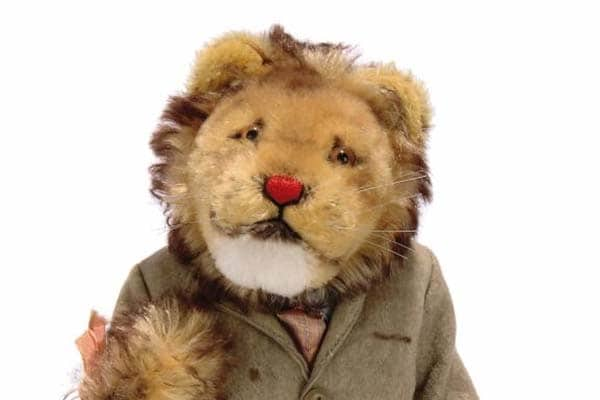 a unique Steiff prototype lion in suit, 1950s from the Paul Greenwood Collection sold at Christie's South Kensington in 2010.