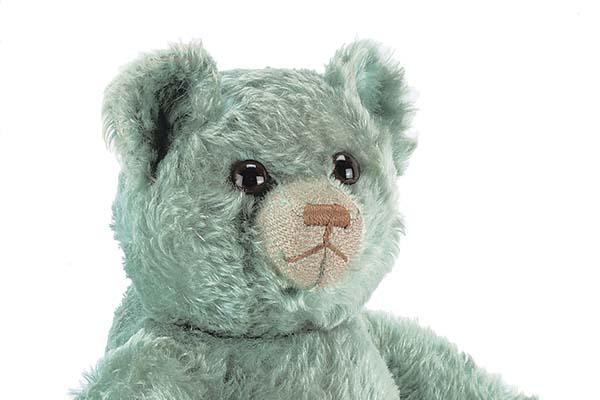 A rare J.K. Farnell turquoise mohair Teddy Bear, 1930s