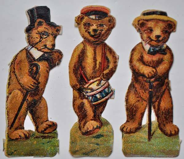 Teddy Bear Chromolithographic Scraps part 1